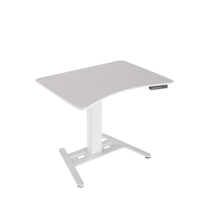 Height-adjustable desk E-TABLE ONE - White/White